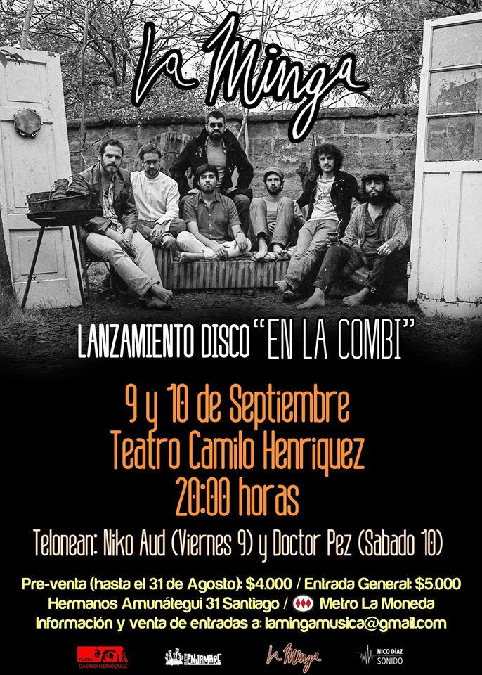 Afiche Lanzamiento Segundo Disco La Minga